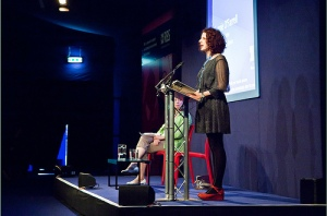 Photo of Maggie O'Farrell at Edinburgh International Book Festival